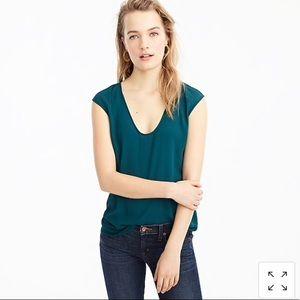 J. Crew cap sleeve shirttail top